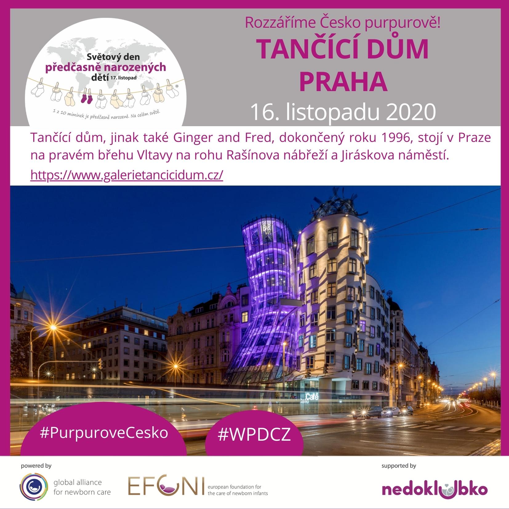 purpuroveCesko_PRAHA TANCICI DUM