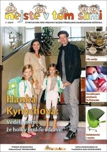 Titulní stránka prvního čísla Nejste v tom sami 1/2015